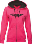 FLY RACING CORPORATE LADIES ZIP UP HOODIE PINK S 358-0069S