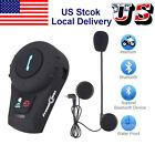 FDC 500M Motorbike Intercom Motorcycle Helmet Bluetooth Interphone Headset+FM US