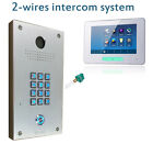 "2 Wire door entry intercom system + touch monitor 7"" video kit"