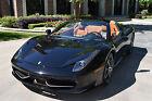 """2014 Ferrari 458  2014 Ferrari 458 Spider 2,107 Miles """"Black"""" MSRP: $315,477"""