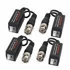 4pcs Push-terminal UTP Passive HD Video Balun Transceiver for CVI TVI AHD CCTV
