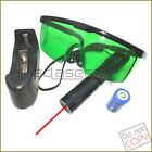 R304 650nm Adjustable Focus BURNING Red Laser Pointer &Battery& Charger& Goggles