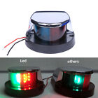 Marine Boat Yacht Transom Light 12V LED Bow Navigation Lights Green Red Bi Color