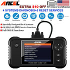 Auto OBDII Code Reader TPMS EPB ABS SRS SAS DPF Reset Diagnostic Scanner Launch