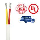 12/2 AWG Flat Duplex AC Marine Boat Wire UL Spec 10' Yellow/Red USA Made