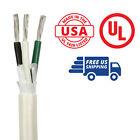 12/3 AWG Triplex Round AC Marine Wire Spool 100 ft. Black/White/Green USA Made