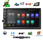 """Double Din 7"""" Head Unit Android 7.1 Quad Core Car Stereo 1024x600 GPS Navi Touch"""