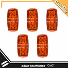 "5PC Double Bullseye AMBER LED 2""x4"" Trailer Marker Light 10 Diodses Sealed 12V"