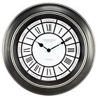 "20818 Equity by La Crosse 18"" Antiqued Black Silent Sweep Analog Wall Clock"