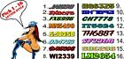 "Custom Snowmobile Registration 2"" Numbers Pair Decals Sticker Vinyl 2 Color!!!!"