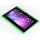 """7"""" Tablet PC Quad Core Google Android 4.4 KitKat 8GB 7 Inch HD tablet Green"""