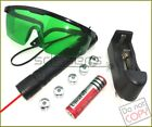 R900-F5 650nm Adjustable Focus BURNING Red Laser Pointer&Battery&Charger&Goggles