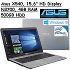 2016 ASUS VivoBook 15.6 Flagship Laptop, Intel Pentium N3700 Quad Core TAX FREE
