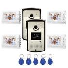 House RFID ID Card Wired Video Door Phone Audio Visual Intercom System Villa 2V4