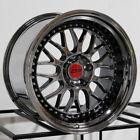 19x10.5 ESR SR01 SR1 5x114.3 22 Black Chrome Wheels Rims Set(4)