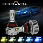 BorView M5 9007 HB5 6000LM 44W Cree+Philips LED Headlights Dual Beam Aftermarket