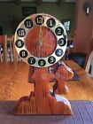 Retro Wood Telephone Wall Clock