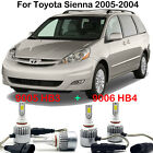 4x LED Headlight Kits 9005 9006 High Low Beam Bulbs For Toyota Sienna 2005-2004