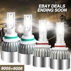 9005 + 9006 LED Headlight Kit Bulbs For Honda Accord 4 dr. 2012-2008 Hi/Low Beam