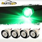 "4Pcs 1-1/4"" Livewell Green Outdoor Path Garden Yard Stair LED Deck Step Lights"