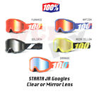 100% STRATA JR 2018 Goggles Offroad MX Motocross - CLEAR or MIRROR LENS - YOUTH