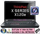 "☀ Lenovo Thinkpad x120e E-350 11.6"" ULTRA-portable NETBOOK laptop ✛ NEW battery"