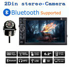 Car Camera Rear View 170° Night Vision + 2 Din Car Stereo Radio Bluetooth CD DVD