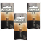 3x Duracell MN27 Alkaline 12V Battery Garage Openers Keyless Remotes Fobs