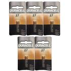 5x Duracell MN27 Alkaline 12V Battery G27A, A27, GP27A, AG27, L828 FAST USA SHIP