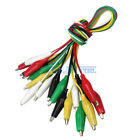 Test Leads Set Wire Clamp Jumper Alligator Clips 10 pc Electrical Assortment Set
