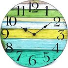 Wall Quartz Round Clock Battery Operated MDF frame with Silent Mechanism