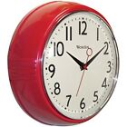 Wall Quartz Round Clock Battery Operated Retro Style for the Kitchen