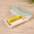 Battery Case for 18650 18350 - Waterproof & Dustproof Storage Holder Box Clear
