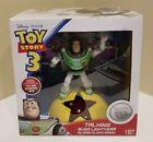 DISNEY Toy Story TALKING BUZZ LIGHTYEAR ALARM CLOCK RADIO with Time Projection