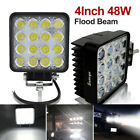 Safego 48W LED Work Lights Lamp Offroad Driving Fog Truck car 4X4 Tractor Flood