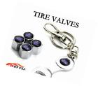 Wrench Keychain Chrome Tire Valve Stem Caps for Ford Black