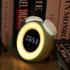 Smart Auto On Off Body Sensor Alarm Clock Night Light LED Bedside Table Lamp