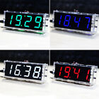 4-digit DIY Digital LED Clock Kit Light Control Temperature Date Time Display