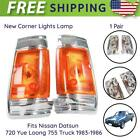 Pair New Corner Lights Lamp Fits Nissan Datsun 720 Yue Loong 755 Truck 1983-1986