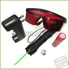 10Miles Powerful 2 in1 5mw 532nm Green Laser Pointer+Star Cap+Battery+Charger