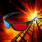 1Pair Black Frame Red Blue 3D Glasses For Dimensional Anaglyph Movie Game DVD
