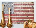 Iron Distressed Multicolor American Flag Metal Work Home Decor Vintage Clssic