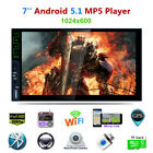 """7"""" 2Din Capacitive Touch Screen 4 Core Android 5.1 Bluetooth Mp5 Player Wifi GPS"""
