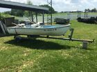 12 ft aluminum fishing boat with trailer and trolling motor