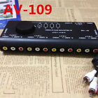 AV 109 audio video switcher Four into a Two way with S terminals Adapter