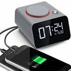 Alarm Clock Charger Digital for Bedroom with Dual USB Charging Port Cell Phone