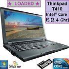 ☀ READY TO USE ☀ Lenovo Thinkpad T410 Core i5 2.4Ghz 320GB Windows 7 PRO laptop