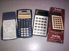2 Calculators: TI-30X IIS Scientific Calculator & TI-1025 Electronic Calculator