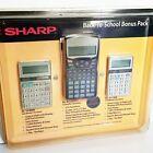 Sharp Back To School Calculator Bonus Pack NOS Retired, EL-531WBBK,  EL-244BB