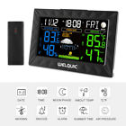 Digital LCD Color Wireless Weather Station Thermometer Hygrometer Alarm Clock US